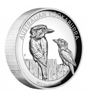 Australian Kookaburra 2017 1oz Silver Proof High Relief Coin